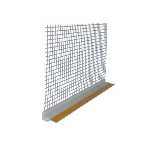 Hálós ablakcsatlakozó profil 2,4m/db 25db/doboz