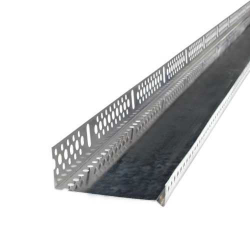 ALU lábazati indító profil 0,8mm x 100mm 2,5m 20db/ktg