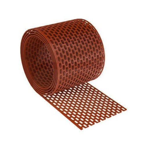 PVC szellőzőszalag 10cmx5m barna 20db
